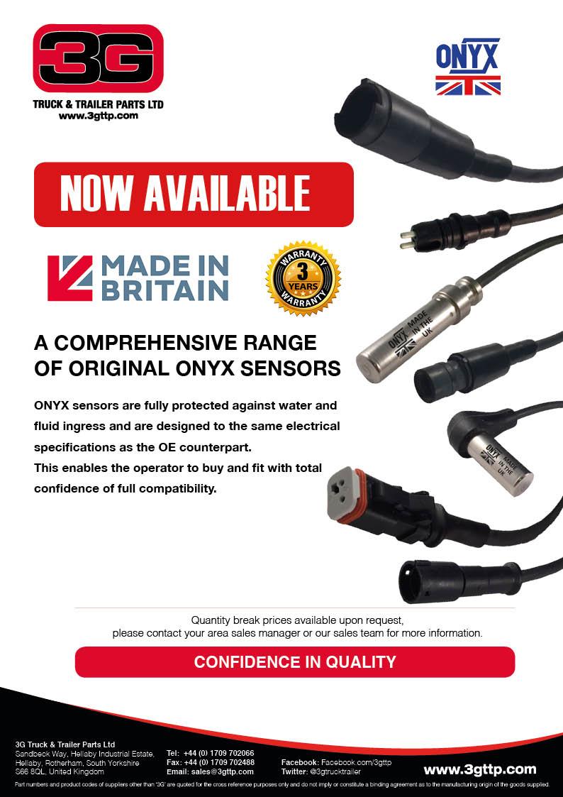 3g Truck Trailer Parts Ltd Hgv Wiring Diagram Uk Onyx Sensors Catalogue